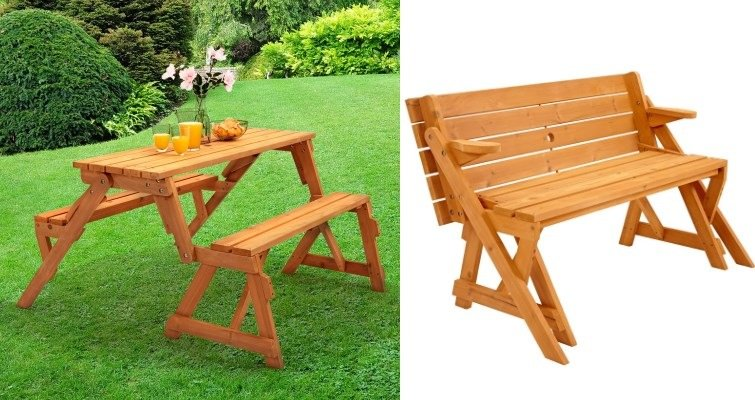 2-in-1 folding picnic table