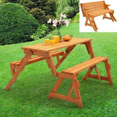 2-in-1 Folding Picnic Table