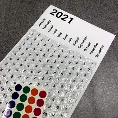 2021 Bubble Wrap Calendar