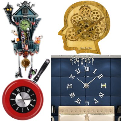odd shaped wall clocks wall clock