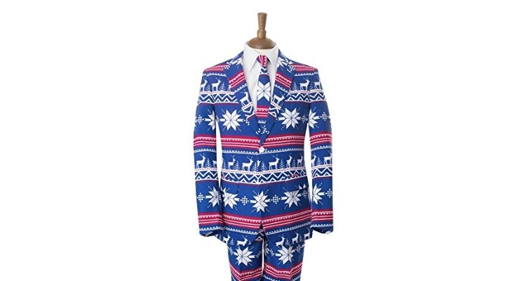 Christmas jumper style suit