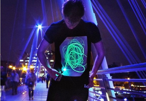 Glow in the dark drawable shirt