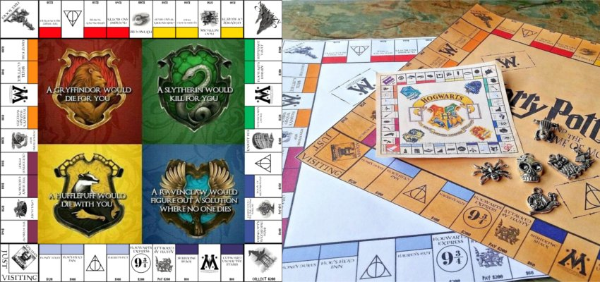 Hogwarts houses monopoly sets