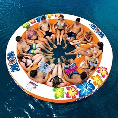 Inflatable 12 Person Island