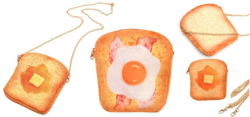 Piece of toast purse