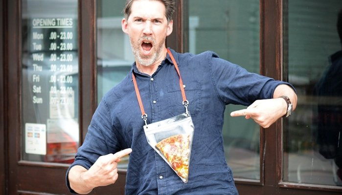 lanyard pizza pouch
