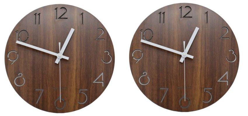 Rustic round wooden clock