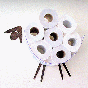 Sheep Toilet Rolls Storage Is A Great Way To Free Up Space. Store Up To 30  Rolls Of Toilet Paper On The Wall On This Little Sheep Shelf.