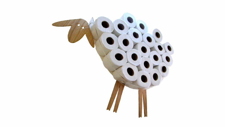 Sheep Toilet Roll Storage