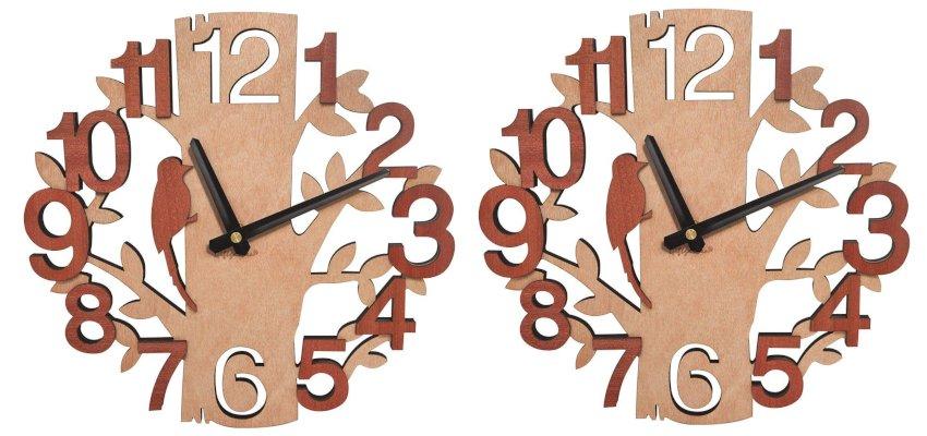 Wooden tree clock