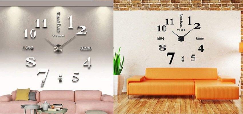 asymmetric numbers diy wall clock