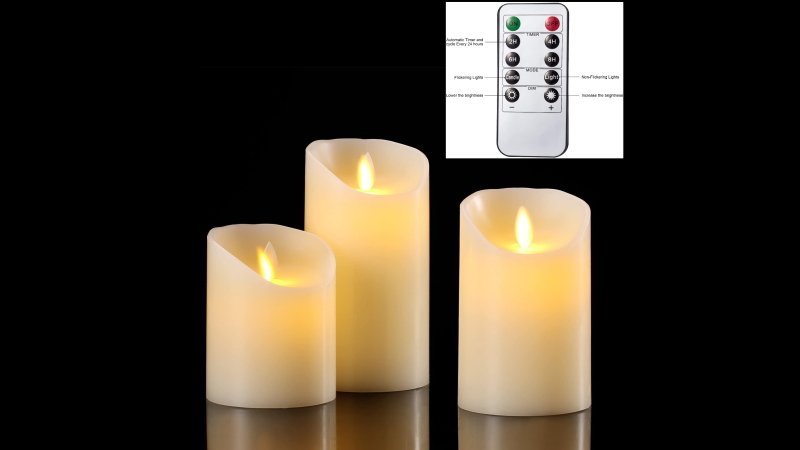 remote control battery candles full size
