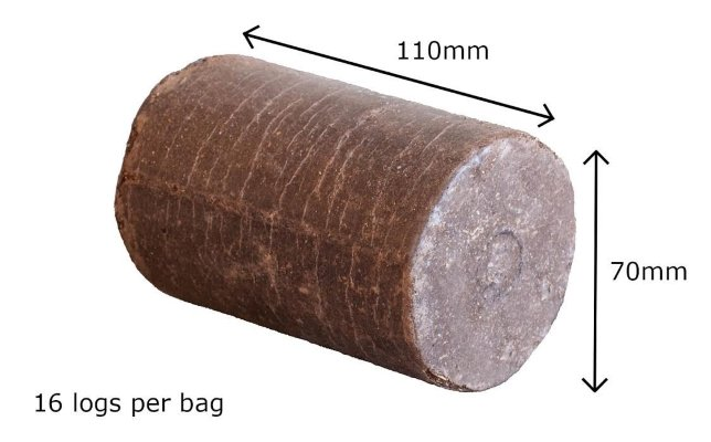 biofuel coffee logs dimensions