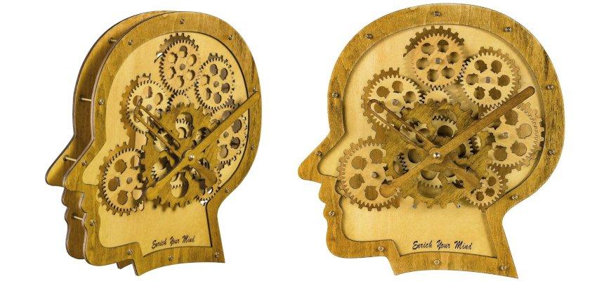 brain cogs clock
