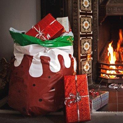christmas pudding bin bags fireside