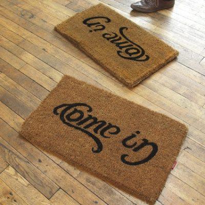 Come In / Go Away Doormat
