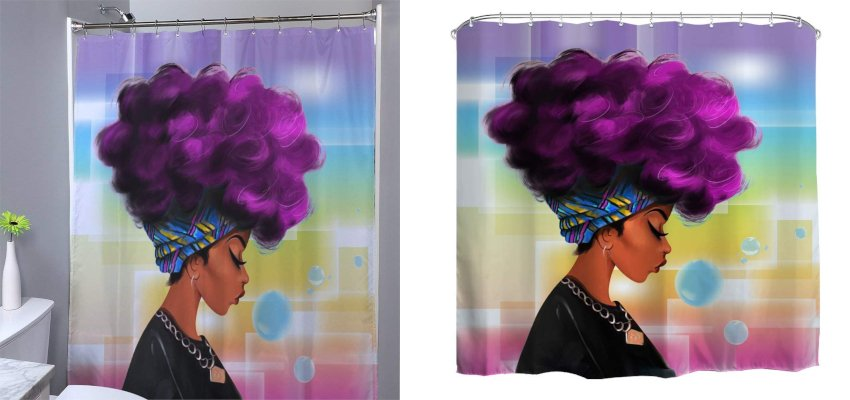 contemporary fashion shower curtain