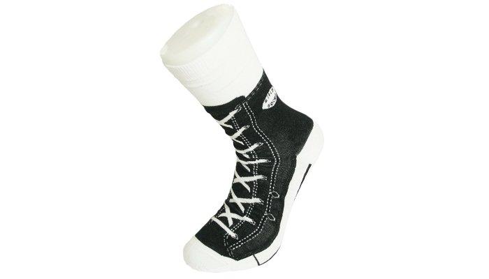 converse socks black