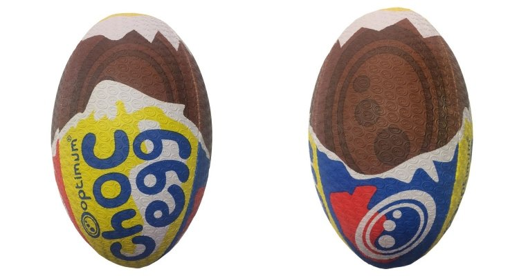creme egg rugby ball