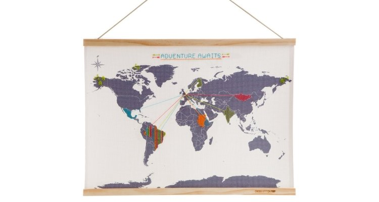 cross stitch world map 1