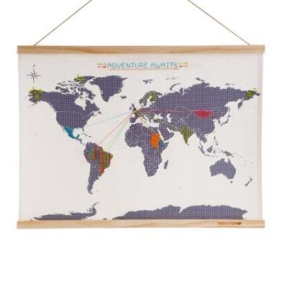 Cross Stitch World Map Kit