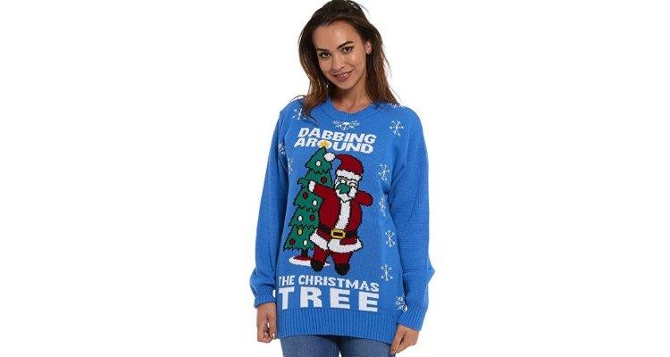 dabbing santa christmas jumper