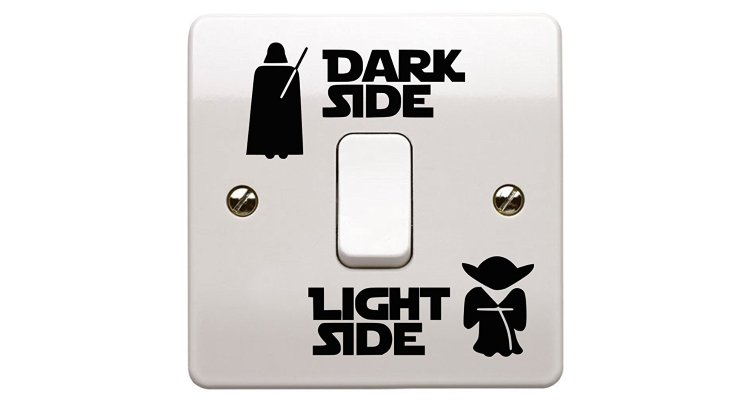 dark side light side light switch sticker 1
