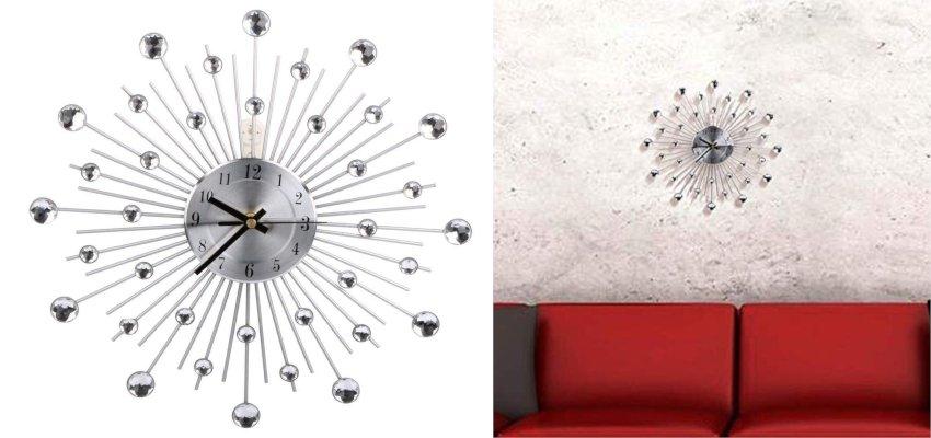 diamante sunburst clock