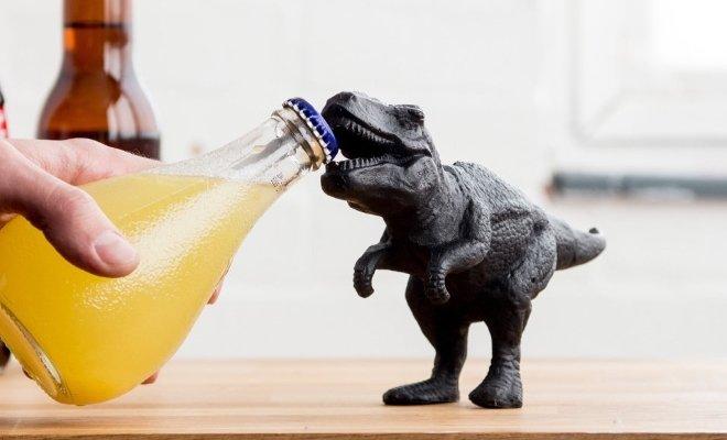 dinosaur t rex bottle opener