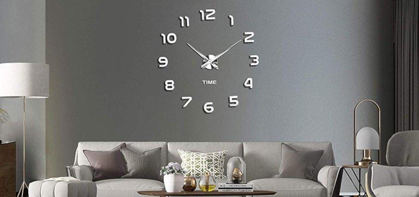 diy frameless silver clock