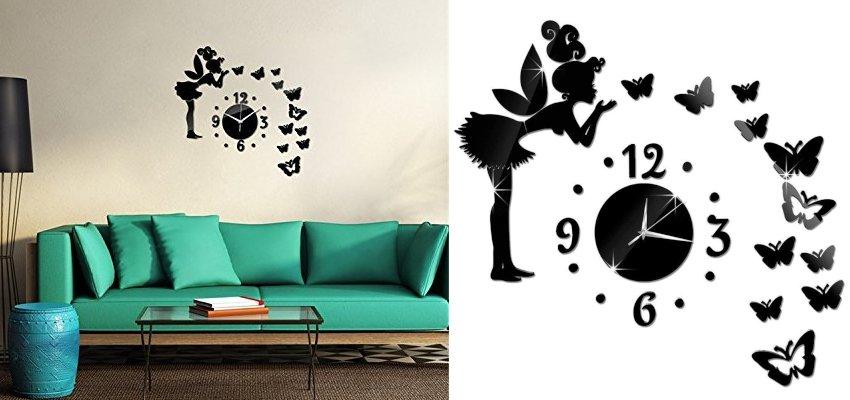 fairy sticker clock