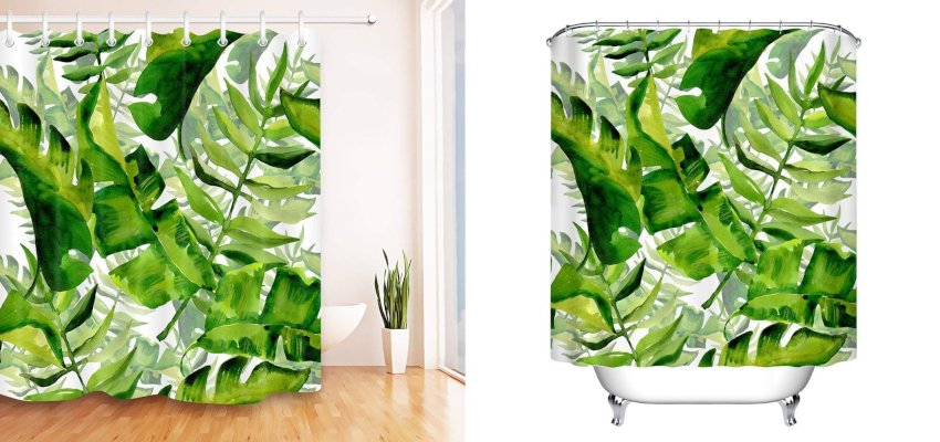 giant leaf shower curtain