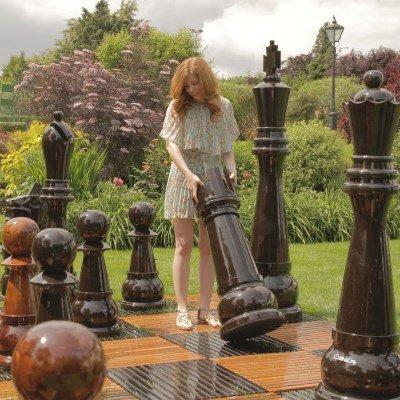 Giant Teak Chess Set
