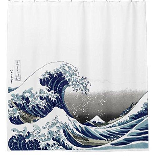 Hokusai Great Wave Shower Curtain
