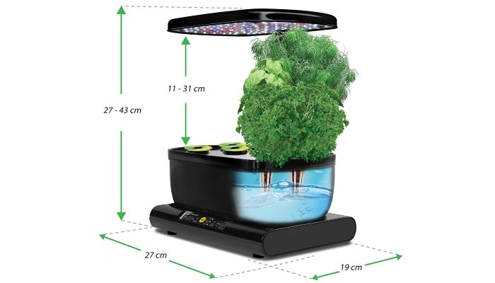 home hydroponics kit cross-section