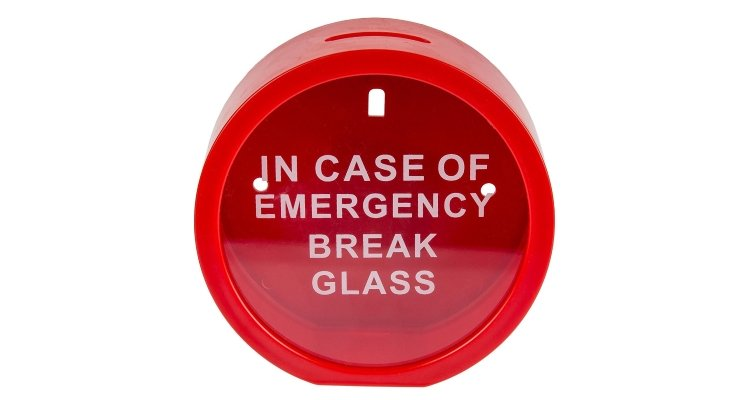in case of emergency money saver box