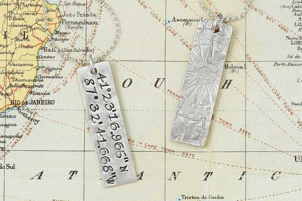 latitude longitude pendant