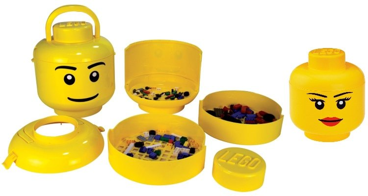 Lego Head Storage containers