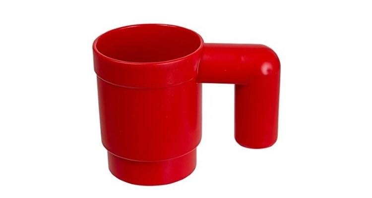 Lego Upscaled Mug red side