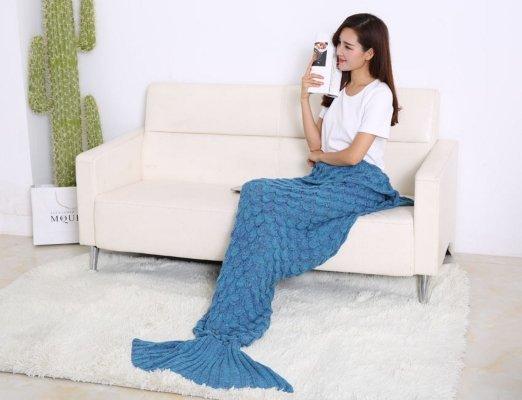 handmade mermaid blanket