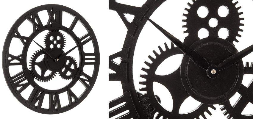 metal gears skeleton clock