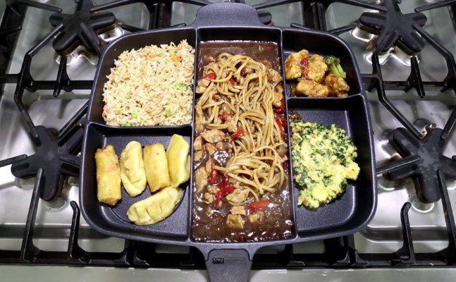 Masterpan Multi Compartment Frying Pan