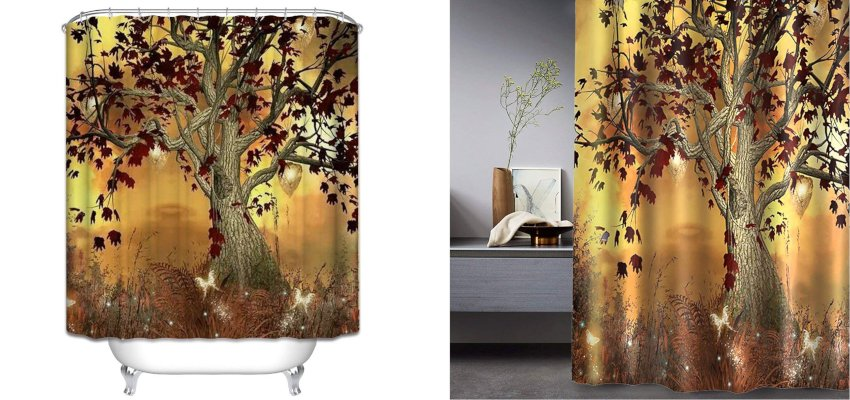 mystical tree shower curtain