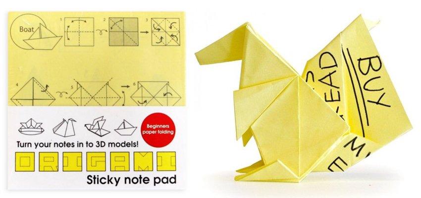 origami sticky notes 1