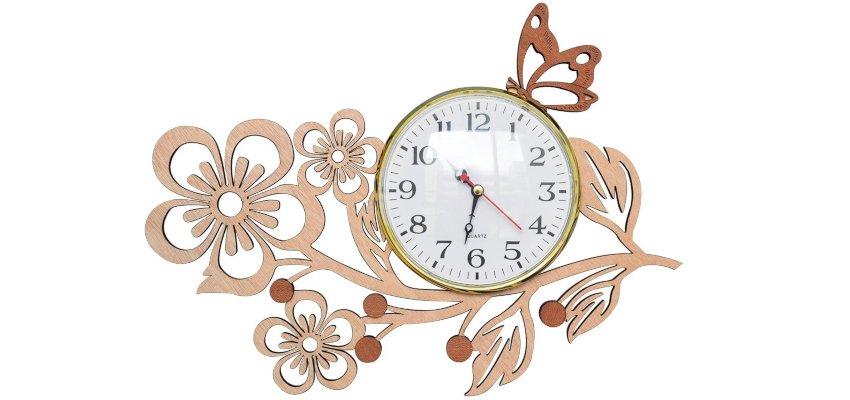 ornamental Butterfly clock