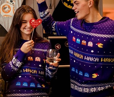 pac man christmas jumper