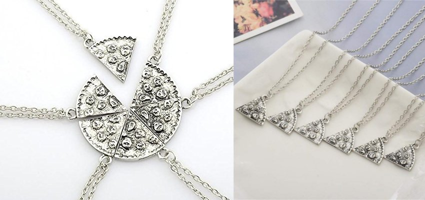 pizza slice necklaces