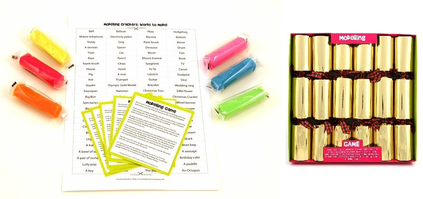 play dough christmas crackers
