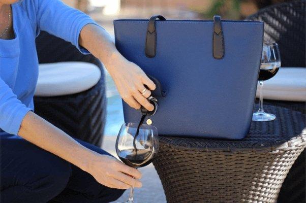 portovino wine handbag