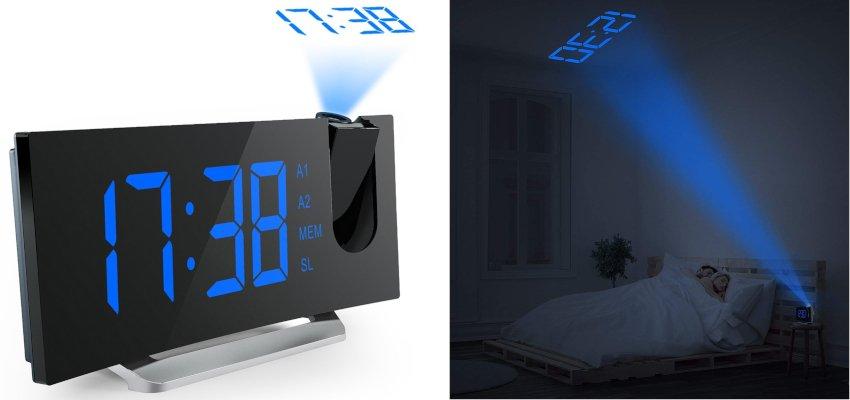projecting dual alarm clock